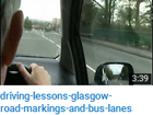 Road markings and bus lanes